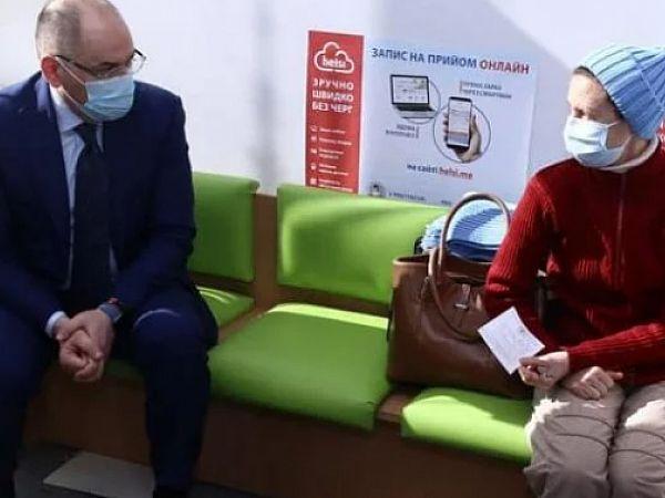 В  Киеве начали вакцинацию  пожилых  людей