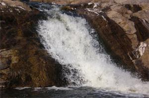 Природный водопад в Кировоградской области
